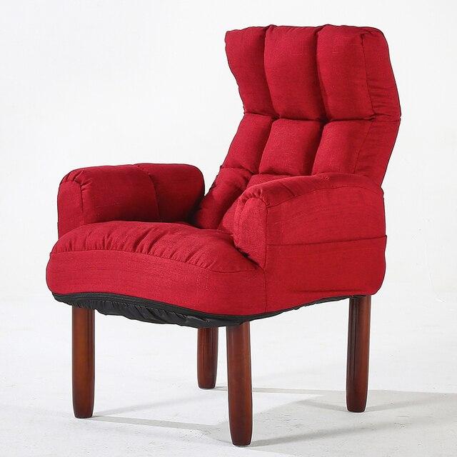moderne tissu d ameublement canape fauteuil salon meubles fauteuil pliant dossier inclinable bras chaise d