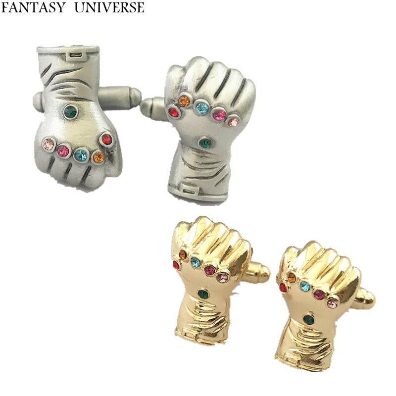 FANTASY UNIVERSE darmowa wysyłka 20 para dużo Thanos spinki do mankietów spinki do mankietów XQDSASA01 w Spinki do krawatów i mankietów od Biżuteria i akcesoria na  Grupa 1