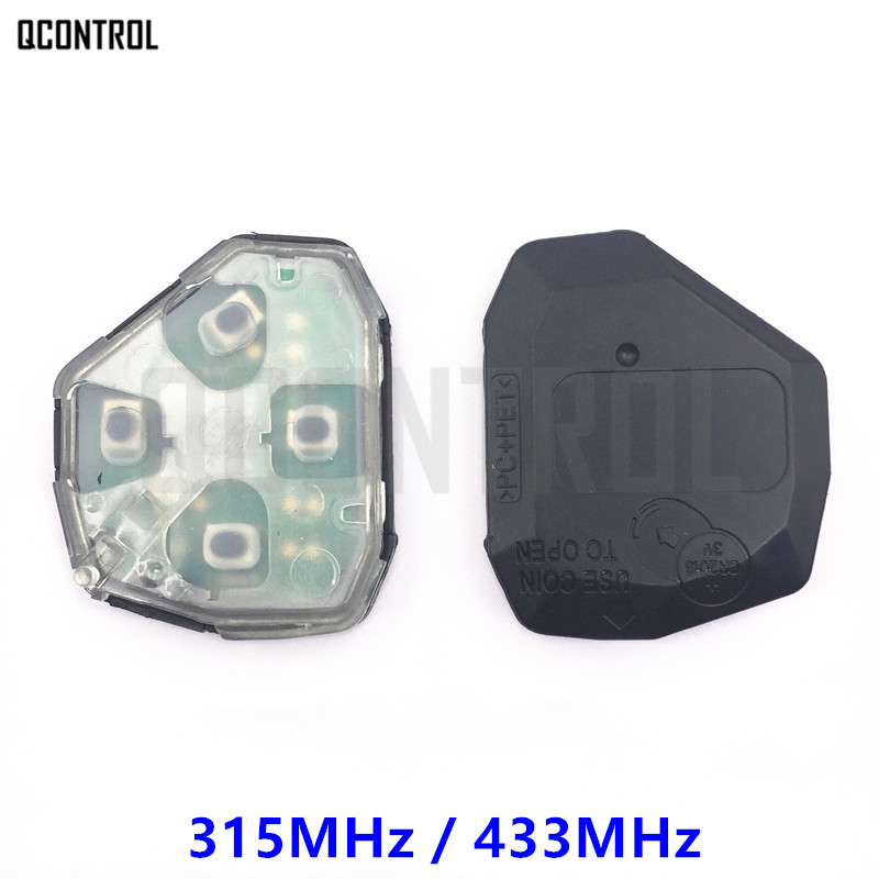 QCONTROL Internal Assembly Of Remote Key For Toyota Camry Corolla Prado RAV4 Vios Hilux Yaris 315MHz Or 433MHz Transmitter Core