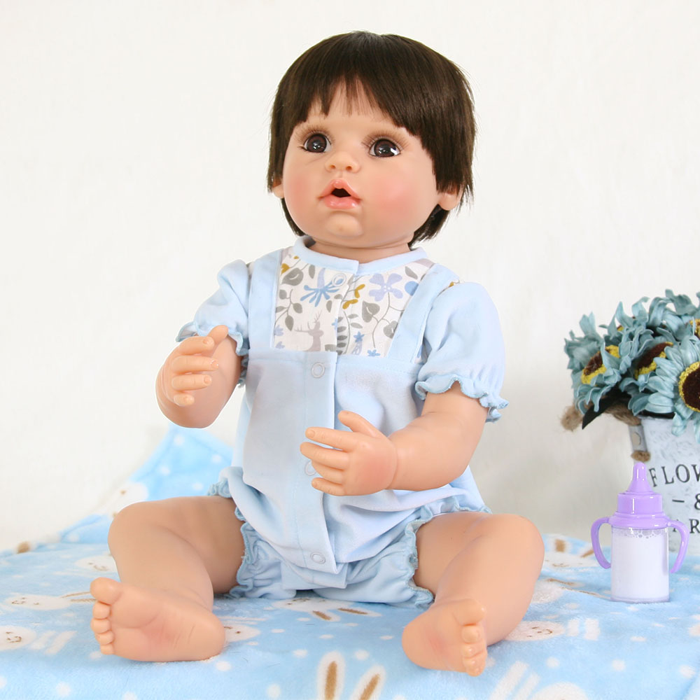 22 Silicone Vinyl Reborn Dolls Babies With blanket unique design soft Hair Reborn boy Dolls Bebe KidsToy Early education Inter22 Silicone Vinyl Reborn Dolls Babies With blanket unique design soft Hair Reborn boy Dolls Bebe KidsToy Early education Inter