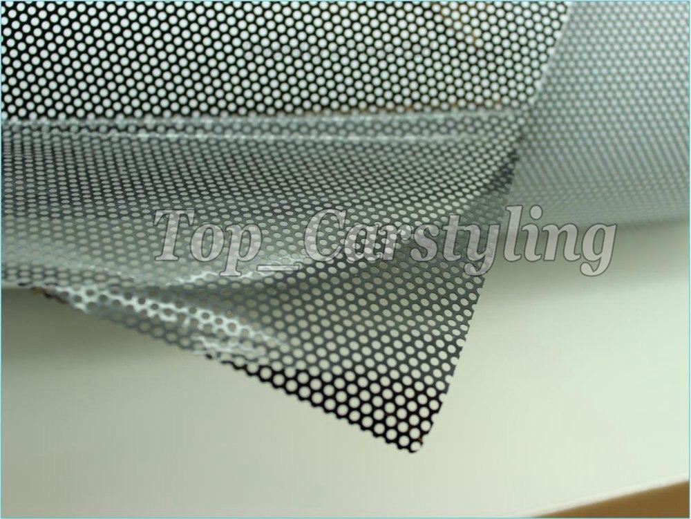 black perforating mesh film black one way vision window film for bus wall(9)