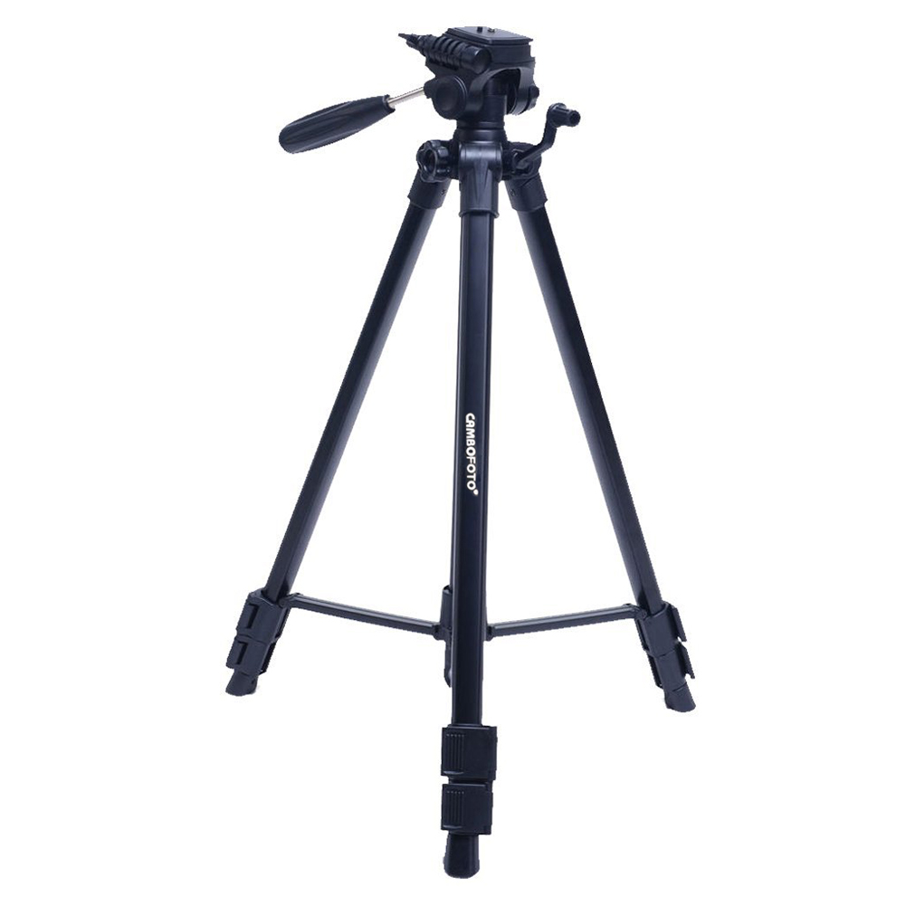 CAMBOFOTO 63-Inch Professional Portable Camera Travel Aluminum Tripod with Carry Bag shockproof dustproof camera tripod carry bag