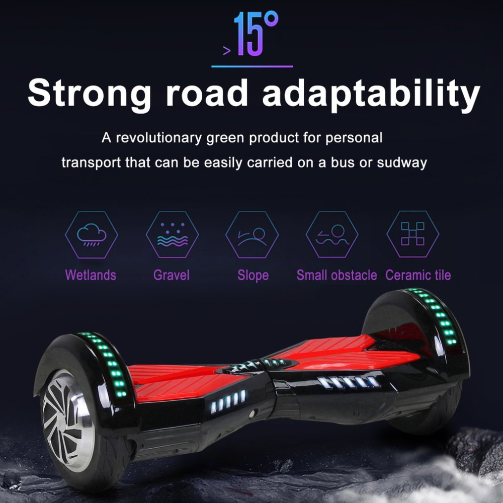 цена на scooter electrico 8 Inches Bluetooth App Self Balance Scooters Stand Smart Skateboard Hoverboard with Storage Bag