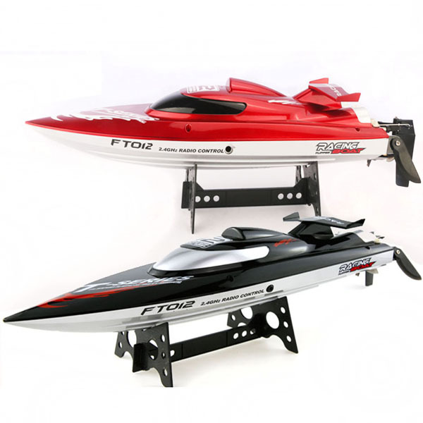 FT012 Upgraded FT009 2.4G Brushless RC Racing Boat Red
