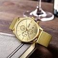Jedir homens mens moda relógio de quartzo relógios cinta de malha de aço inoxidável à prova d' água relógio hour para o homem de negócios megir relógios masculinos