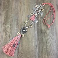 Новая Мода Boho свитер на все случаи цепи цепочки и ожерелья кисточкой сплава вокруг длинные подвески для женщин ювелирные изделия подарок