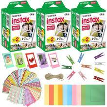 Fujifilm Instax Mini 9 8 7s aparat natychmiastowy zestaw akcesoriów 60 arkuszy Mini film papier fotograficzny ściany powiesić ramki naklejki zestawy