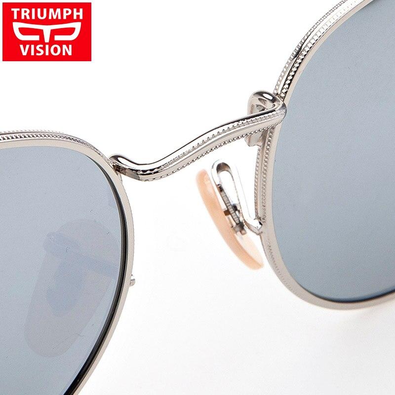 8c6d68db5dd7e TRIUNFO de VISÃO Rodada Do Vintage Óculos De Sol Mulheres Polarizada  Espelho de Prata Óculos de Sol Para As Mulheres Marca Retro Oculos Shades  Feminino Novo ...