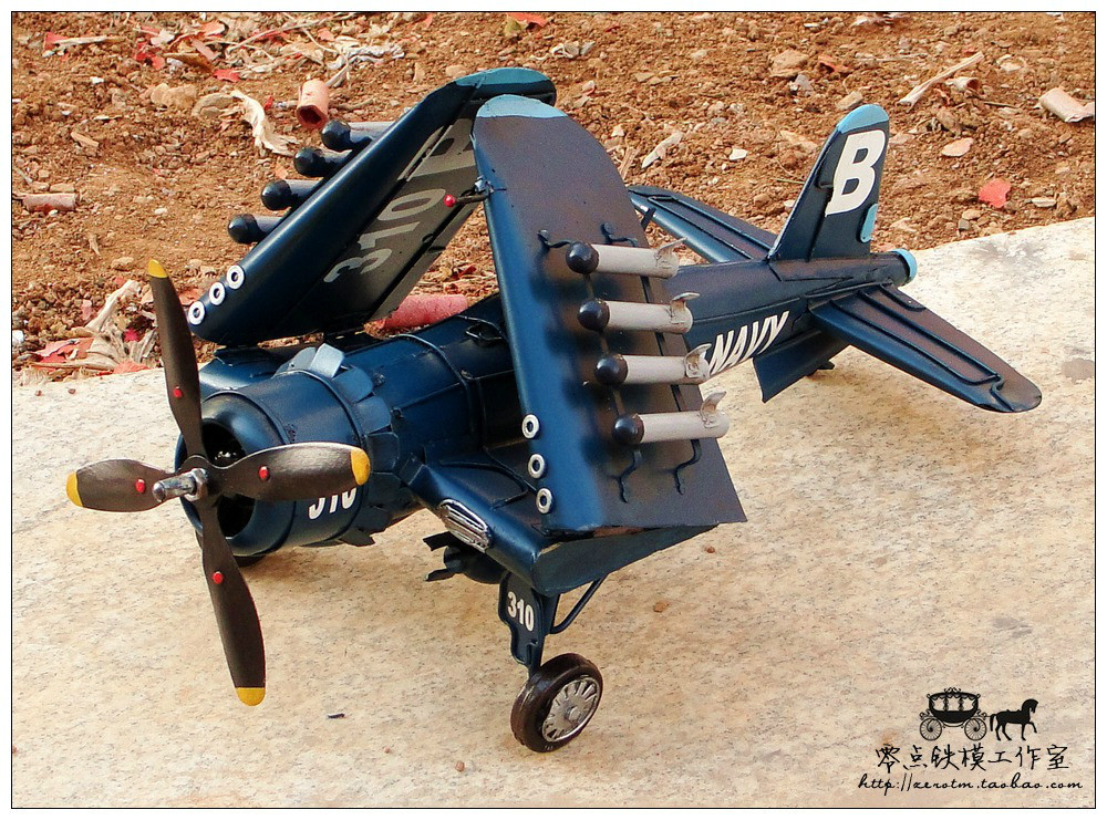 US World War II vintage wrought iron decorations ornaments carrier aircraft model gifts handmade crafts