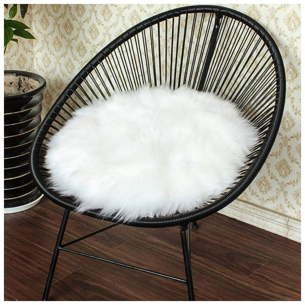 Super Soft Faux Sheepskin Washable Carpet Warm Hairy Seat Pad Fluffy Rugs Faux Fur Mats For Floor Chairs Sofas Cushions 4 Size