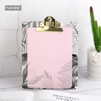 NEVER Plants Series Memo Pad Notepad With Clip Board Clipboard Writing Board Office Accessories Fresh Korean
