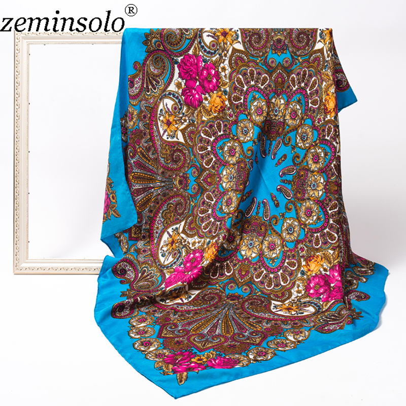 Fashion Scarves Shawls For Women Scarf Luxury Brand Large Square Pashmina Bandana Winter Cotton Hijab Wrap Scarves 120*120cm