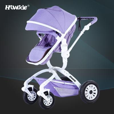 Alta paisagem carrinho de criança pode sentar pode mentir inverno verão crianças empurrar carrinhos de suspensão a two-way carrinho de bebê