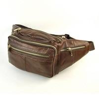 Men Retro Genuine Leather Waist Packs Vintage Fanny Pack CellPhone Bags Messenger Practical Multi Compartment Classic
