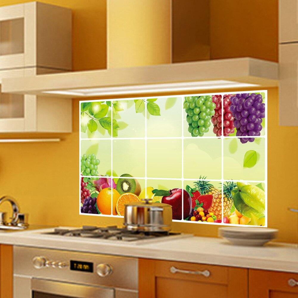 Uva home decor wall stickers per la parete della cucina anti olio ...
