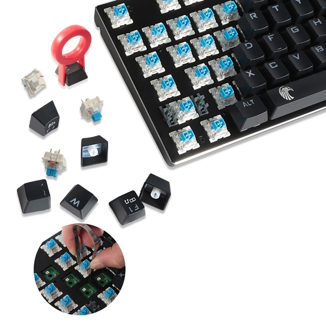 Z-88 Compact TKL Small Rainbow Backlit LED Mechanical Keyboard, 81 keys QWERTY Layout Blue Switches For Gaming and Typing 2