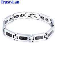 Brand New Luxury Tungsten Steel Men Bracelet Energy Magnetic Health Mens Bracelets Bangles Cool Brazalet For
