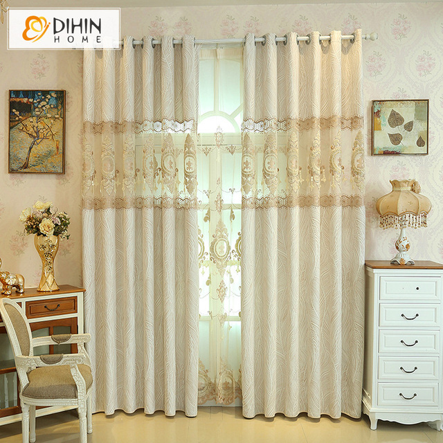 DIHIN HOME Luxury Fashion Striped Blackout Curtains For Living Room Window Screening Curtain Drapes The