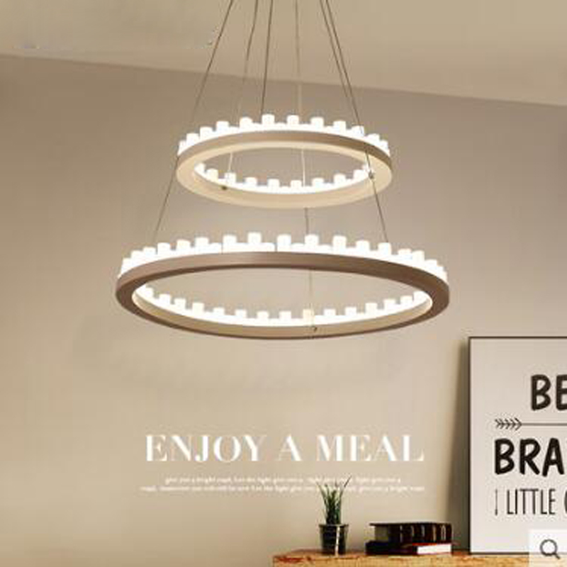 Modern minimalist restaurant lights candle art creative personality living room lamp study loft bar chandelier Nordic lamps led
