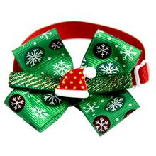 New Christmas Dog Bow Ties Pet Ornament Tie With Bell Collar Cat Puppy Accessories