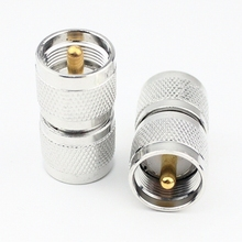УВЧ PL259 мужчины к мужчине UHF штекер двойной прямой Длинный SL16 РФ Коаксиальный адаптер конвертер 10 шт./лот