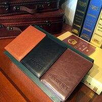 ETONWEAG High Quality Leather Men Passport Holder Mens Travel Passport Cover Card Case Man Card Holder