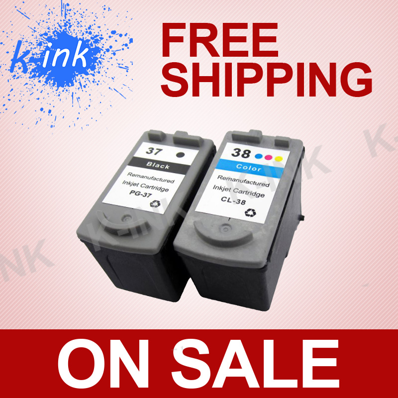 Remanufactured ink cartridge PG-37 CL-38 ,for Canon printer IP1800 IP1900 IP2500 IP2600 MP140 MP190 MP210 MP220 MX300 MX310 4 pk canon pg 30 cl 31 ink cartridge for pixma mx310 mp210 mp190 mp210 printers