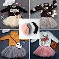 MAKA Crianças Bebê Meninas Saia Crianças Bonito vestido de Baile Dança Pettiskirt Fluffy Tulle vestido de Festa de Casamento TUTU Saia Véu Líquido Criança saias