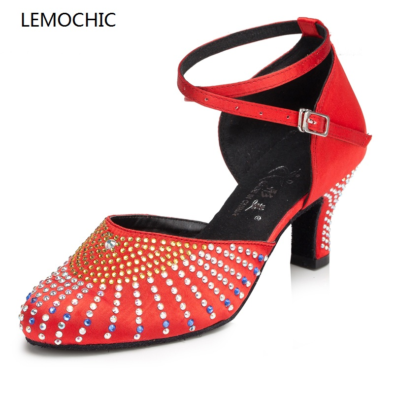 LEMOCHIC hot sale classical ballroom salsa latin tango arena jazz samba rumba tango pointe performance comfortable dance shoes