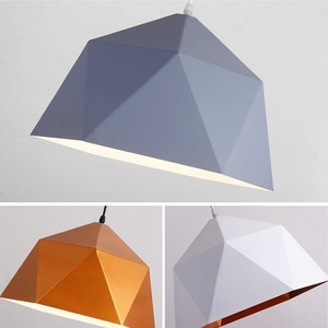 Image 5 - Pendant Lights Iron Pendant Lamp Minimalism Nordic Hanglamp Geometric Single Head For Restaurant Cafe Home Suspension Luminaire