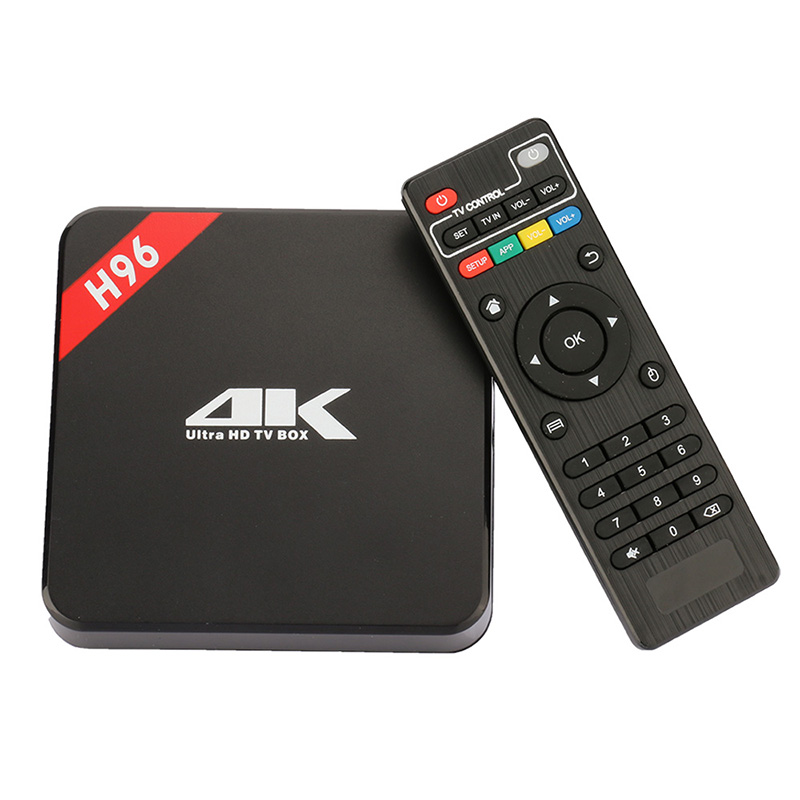 H96 Android TV Box Amlogic RK3229 Quad Core Android 6.0 1G/8G WIFI 4K 1080P add-ons Support IPTV wireless keyboard Smart Tv Box mx plus amlogic s905 smart tv box 4k android 5 1 1 quad core 1g 8g wifi dlna потокового tv box