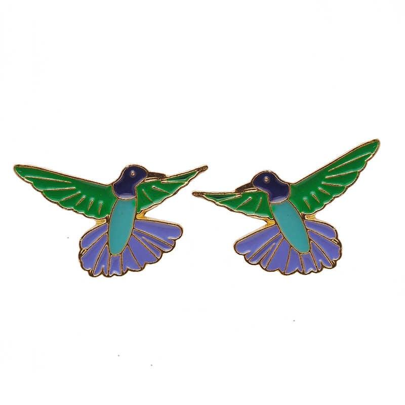 คลาสสิกเคลือบ Peak นกสร้อยคอโลหะ Peak นกสร้อยคอต่างหูชุดเครื่องประดับเลดี้ Boho สไตล์
