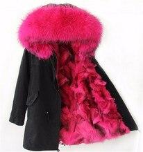 Winter Jacket Women 2016 Army Black Green Parka Coats Real Large Raccoon Fur Collar Fox Fur Lining Hooded Outwear Free DHL UPS