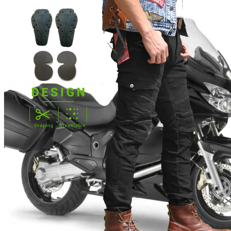 Men Women Off Road ATV Riding Pants Motocross Racing Jeans Motorbike Trouser With Knee Hip Pads Hockey Pants Knight Dirt bike