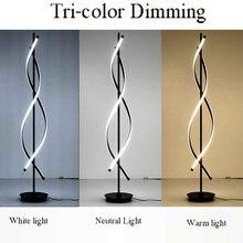 Modern LED Floor Lamps Living Room LED Floor Lights Standing Family Rooms Bedroom Offices Dimmable Lighting Aluminum Luminaria