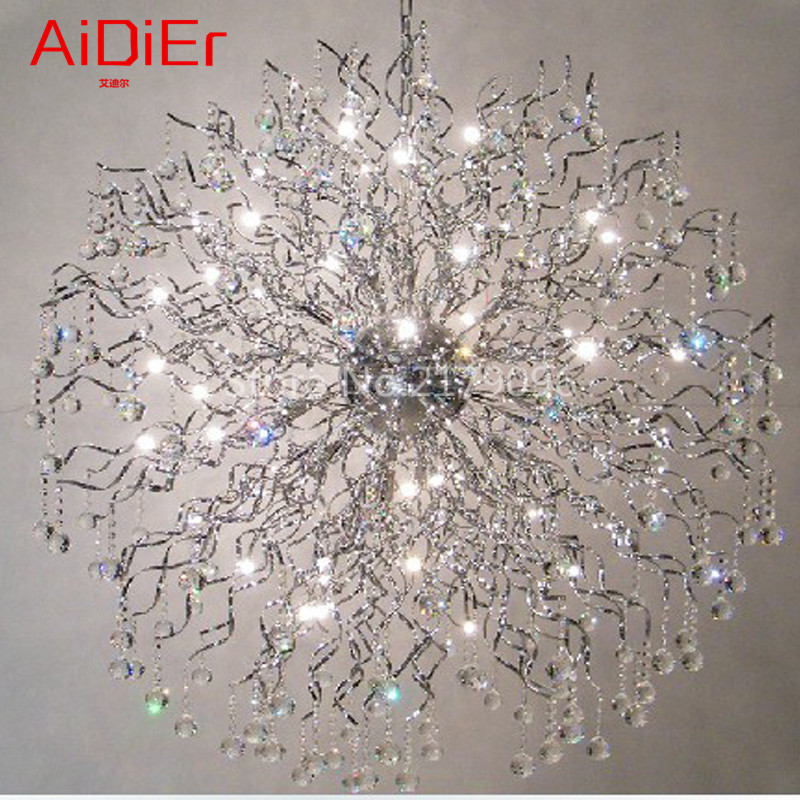 Crystal Light creative fashion personality living room lamp crystal ball romantic restaurant LED crystal chandeliers|led crystal chandeliers|crystal chandelier|chandelier fashion - title=