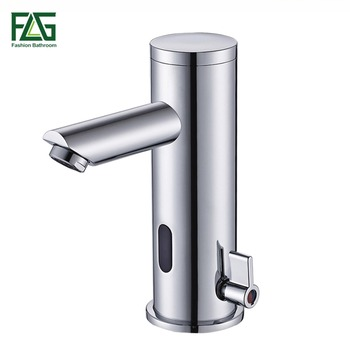FLG Sensor Faucet Automatic Inflrared Sensor Hand Touch Tap Hot Cold Mixer Chrome Polished Sink Mixer Bathroom Tap Basin faucets 1