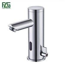 Flg Sensor Kraan Automatische Inflrared Sensor Hand Touch Tap Hot Cold Mixer Chrome Gepolijst Sink Mixer Badkamer Tap Wastafelkranen