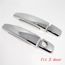 Chrome Door Handle Cover Trim for OPEL Corsa D 2008 - 2014 Car Styling Stickers for Vauxhall Corsa D Auto Accessories for opel zafira tourer c chrome handle cover trim set vauxhall 2012 2013 2014 2015 2016 2017 car accessories sticker car styling