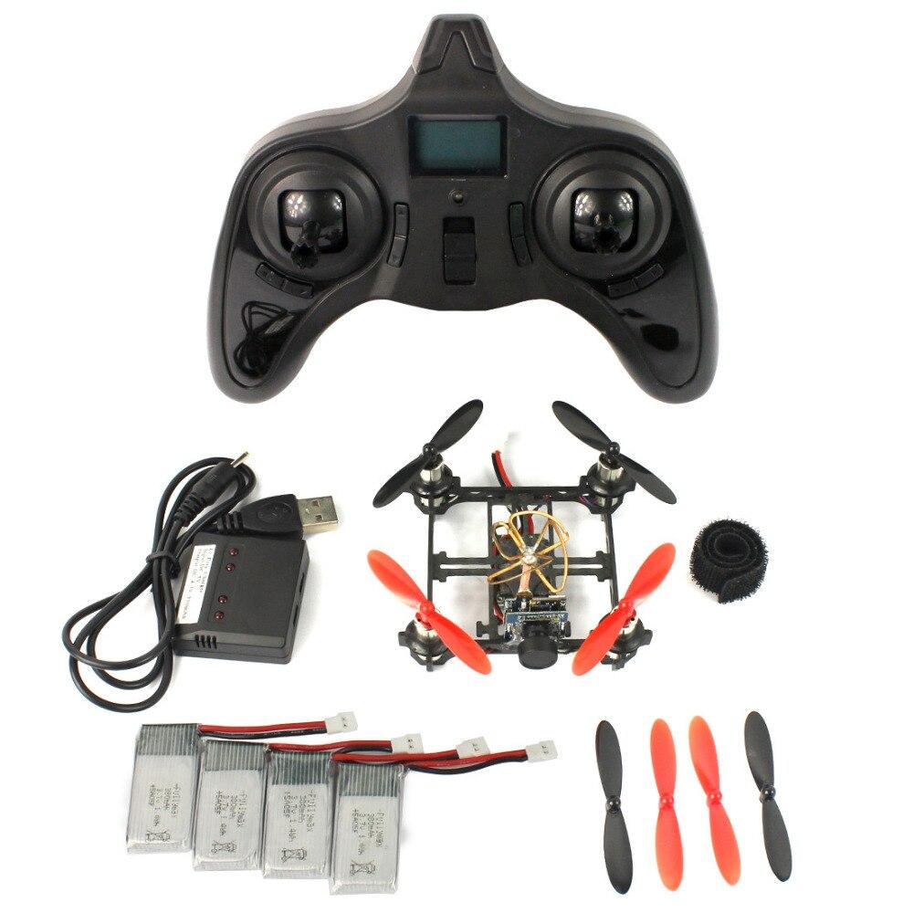 ФОТО Mini Tiny QX80 80mm Carbon FPV Brushed Indoor RC Quadcopter DIY RTF Assemble Kit H107 Flight Control 5.8G 25mW Camera F19032-B/C