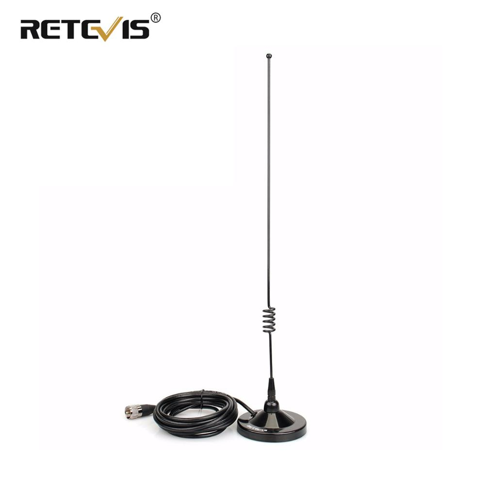 RETEVIS MR100 Mobile Magnet Mount And Dual-Band Antenna Combination SL16/PL259 Connector VHF UHF For RETEVIS RT98/RT95 Car Radio