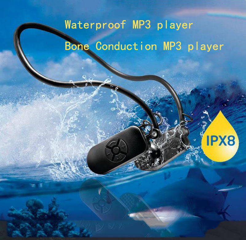 003 Wasserdichte Schwimmen Kopfhörer Einstellbare Winkel Hifi Verlustfreie Knochenleitung Schützen Trommelfell 4 Gb/8 Gb/16g Musik Mp3 Player Unterhaltungselektronik Tragbares Audio & Video