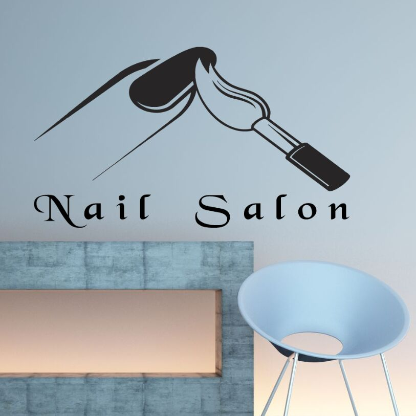 Nail Salon Wall Decal Manicure Art Sticker Vinyl Beauty Shop Decoration Mural Poster AY879