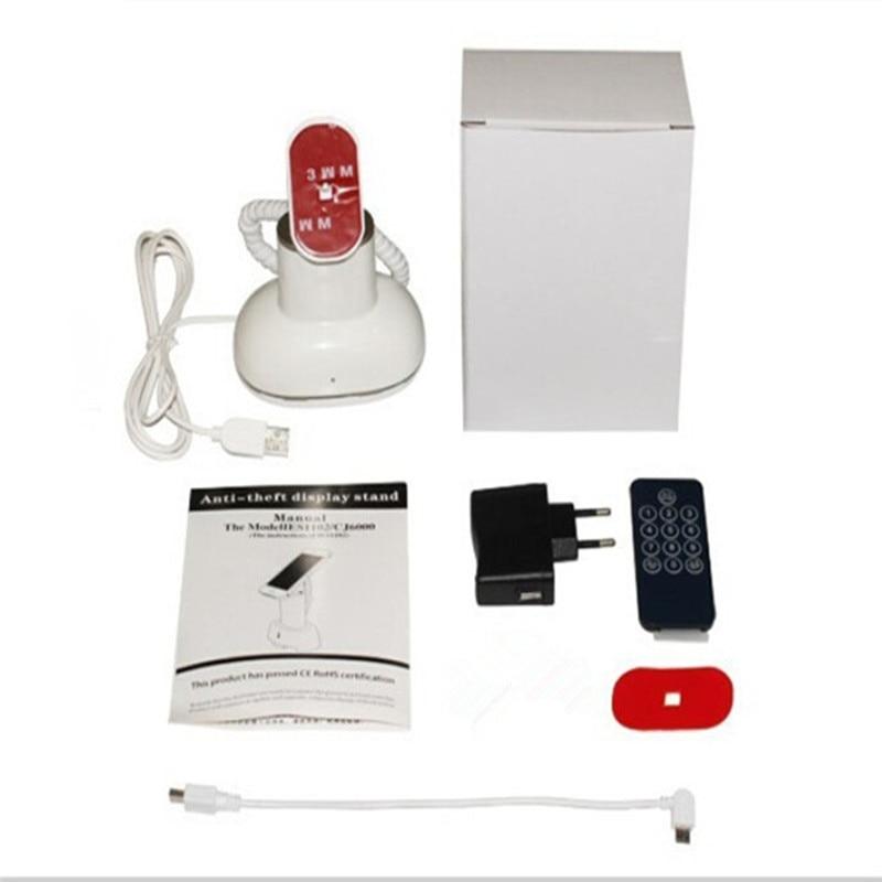 (10 set/lote) CJ7000 material abs cor branca controle remoto embutido buzzer mesa do telefone móvel titular alarme de assaltante