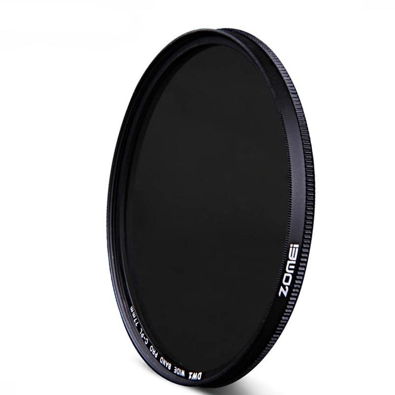 Zomei 49/52/55/58/62/67/72/77/82/86 Kruhový polarizační filtr Ultra Slim CPL pro objektivy Canon Nikon Sony Pentax SLR