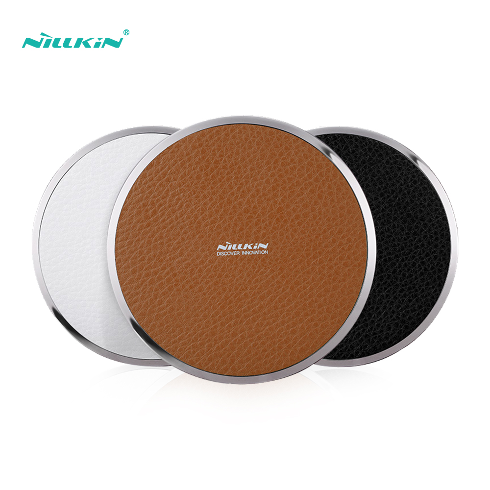 Nillkin 10W PU Leather Qi Fast Wireless Charger Pad For IPhone 11 Xs Max X For Samsung Note 10 10+ S10 S9 For Huawei For Xiaomi