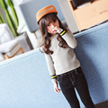 Girls wear sweaters in the spring of 2017 the new children's long sleeved T-shirt shirt color shirt
