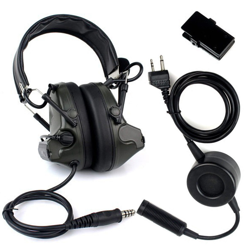 New Z Tactical H50 Headset Noise Reduction Canceling Electronic Sound Pickup for Midland Two Way Radio