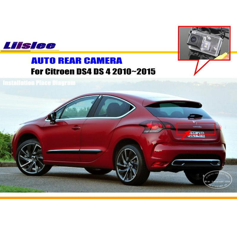 Liislee Car Rear View Reverse Camera For Citroen DS4 DS 4 2010~2015 / Reverse Camera / NTST PAL / License Plate Light DIY Camera