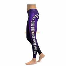 THANK SQUATS FOR THIS LEGGINGS Compression 3D Print 2017 New Women Pants Fashion Straight Elastic Waistband